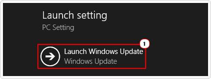 Launch Setting -> Launch Windows Update
