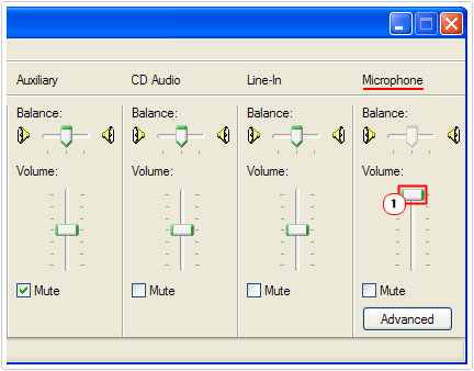 Volume Controls -> Microphone