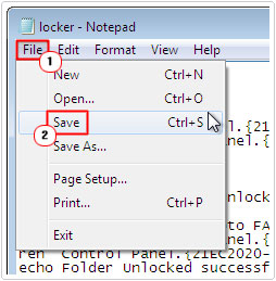 file -> save
