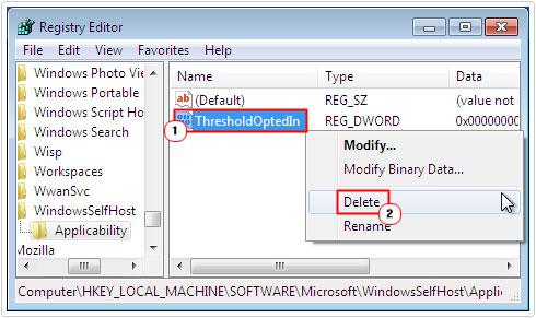Delete ThresholdOptedIn from registry path