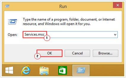 Run -> Services.msc