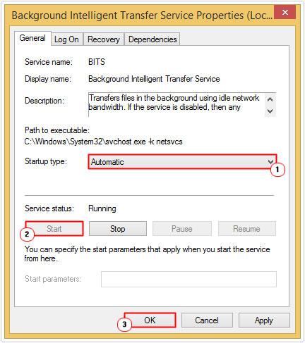 Set Background Intelligent Transfer Service Up