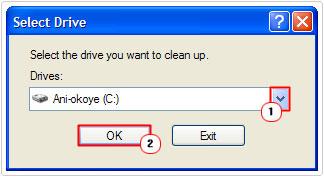Drive -> OK
