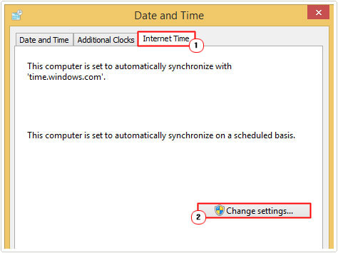 internet time -> change settings