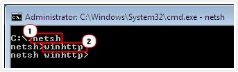 type netsh -> winhttp