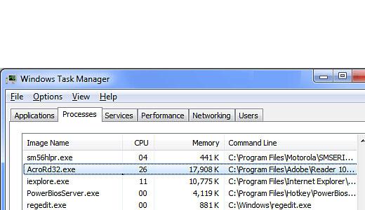 Repairing AcroRd32 exe High CPU Usage