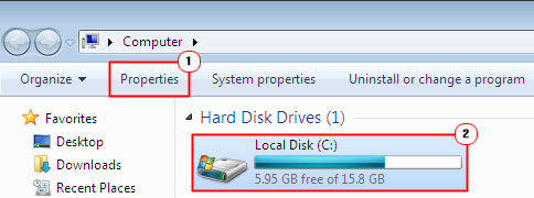 acessing hard drive properties
