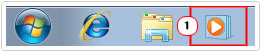 double click on Windows Media Player icon