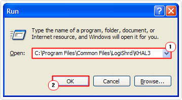 open -> C:\Program Files\Common Files\LogiShrd\KHAL3