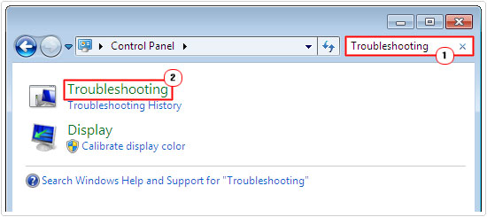 control panel -> search troubleshooting