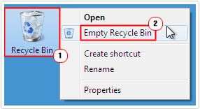 delete file from recycle bin