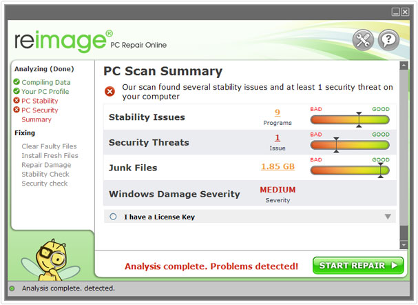 reimage pc scan summary