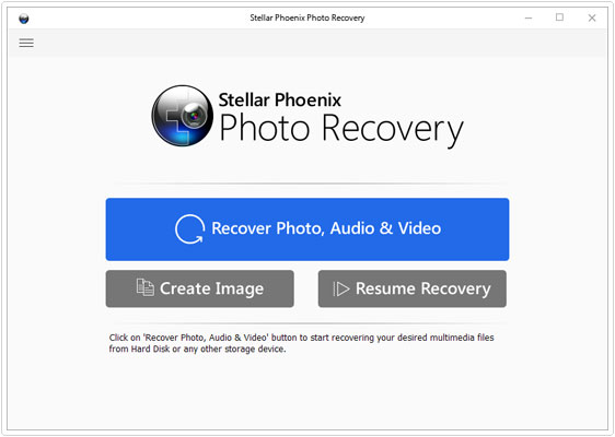 front screen for photo recovery