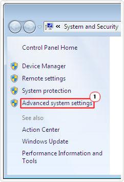 systems -> advanced system settings