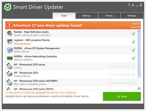 results from smart driver updater