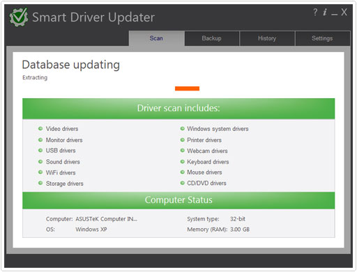 interface for smart driver updater