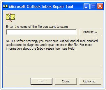 inbox repair tool by ms