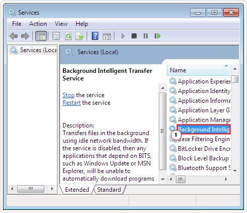 background intelligent transfer service bandwidth management