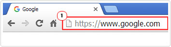 google chrome -> load google search engine