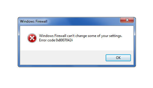 Repairing Error 0x80070424