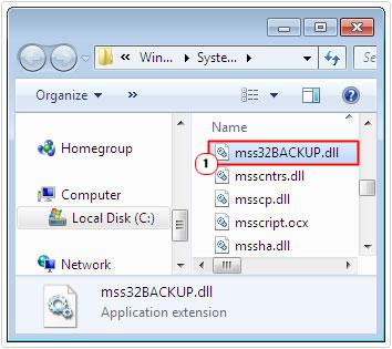 change mss32.dll to mss32BACKUP.dll