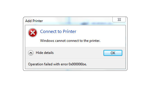 Repairing Error 0x000006be